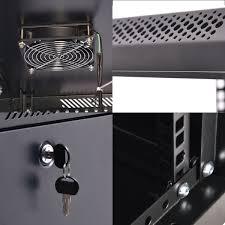 18u wall mount network server data cabinet enclosure rack glass