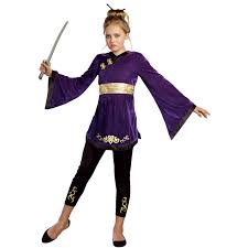 Halloween Costume Ninja Lotus Warrior Tween Costume Buycostumes
