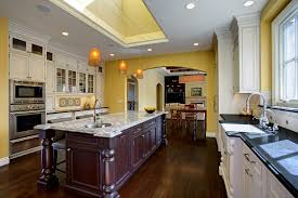 Tray Ceiling Cost Recycled Glass Countertops Cost Kitchen Transitional With Black