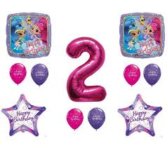 party balloons delivered shimmer and shine 2nd second happy birthday party