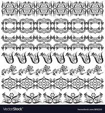 black oriental ottoman border design two vector image