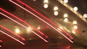 up neon and chasing lights loop stock footage