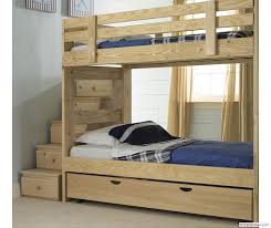 Plans To Build A Bunk Bed Ladder by Best 25 Bunk Bed With Trundle Ideas On Pinterest Built In Bunks