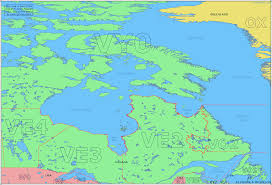 Map Of Oceania Amateur Radio Prefix Map Of Eastern Canada