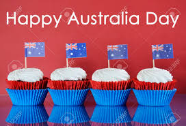 Australia Flags Happy Australia Day January 26th Party Food With Red White