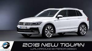 tiguan volkswagen 2016 new 2016 volkswagen tiguan walkaround exterior design youtube