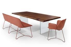 Esszimmertisch Naturkante Tisch Mit Glaswange Massivholz Esstisch Mit Glaswangen