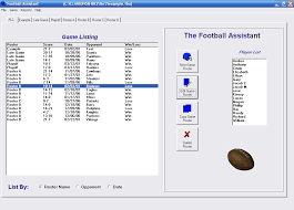Football Depth Chart Template Excel Football Assistant Free Team Roster Software