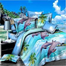 Comforter Sets Made In Usa Amazon Com 3d Underwater World Dolphin Bedding Sets Queen Size