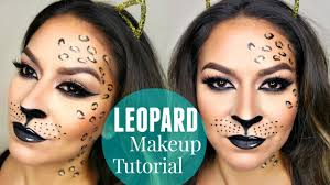 leopard cheetah makeup tutorial halloween makeup tutorial