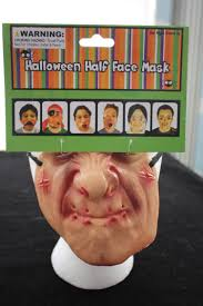Funny Face Halloween Masks Creepy Horror Baby Doll Face Mask Halloween Costume Accessory