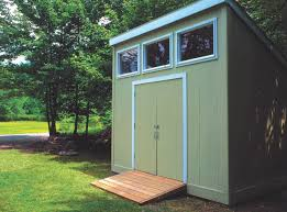Backyard Storage Sheds Plans by Storage Shed Plans 6 X 14 Deluxe Lean To Slant Shed Designs