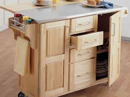 Where Can I Buy A Kitchen Island by Kitchen 59 Portable Island For Kitchen Natural Wood Finish