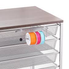 ribbon dispenser platinum elfa ribbon dispenser the container store