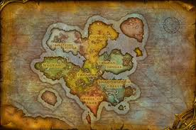 World Of Warcraft Map by Draenor Vs Outland Same Size World Of Warcraft Forums