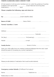 100 free child travel consent form template free medical