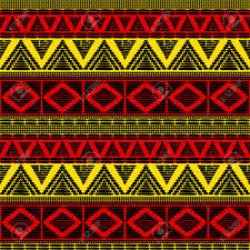 Uganda Flag Colours Tribal Pattern Vector Seamless African Background With In Uganda