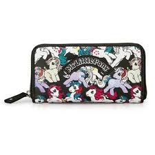 my pony purse loungefly my pony black retro ponies zip around