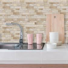 stick on kitchen backsplash tiles interesting interesting sticky backsplash tile peel and stick