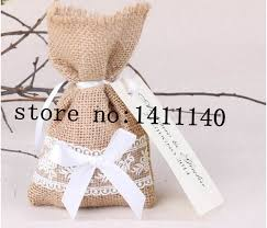 small favor bags free shipping lace decor small burlap bags with drawstring wedding