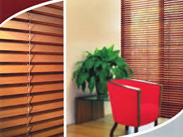 cedar venetian blinds with attractive woodgrain finish