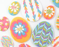 Chocolate Easter Egg Decorating Kit by Marbled Chocolate Easter Eggs
