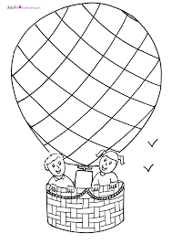 coloring pages of air balloons coloring home
