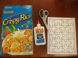 diy recycled cereal box puzzle how to make a puzzle papercraft