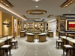 Showcase Design High Quality Rose Golden Color Jewelry Display Counters And