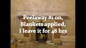 using peelaway 1 on a marble fireplace youtube