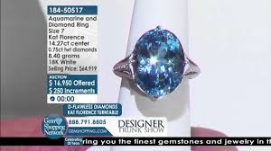 grandidierite engagement ring 14 27 ct aquamarine u0026 diamond ring live auction ll gem shopping