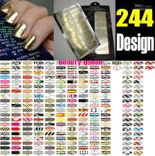 metallic nail foil wraps big sale 244 designs minx nail wraps decal sticker metallic nail