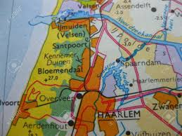 Holland Map Map Of West Holland Kennemerland Stock Photo Picture And Royalty