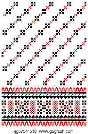 ukrainian ornaments eps illustration ukrainian embroidery ornament vector clipart
