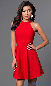 cheap red short designer cocktail party dress red cocktails