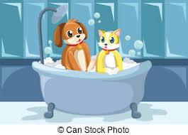 Dogs In The Bathtub Clip Art Vector Of Vector Of Dog In Bathtub Vector Illustration