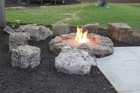 Rock Firepits Rock Pit Spark Creativity 20 Unique Pits