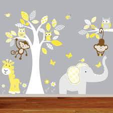 Jungle Wall Decal For Nursery Vinyl Wall Decal Children Jungle Wall Decal Nursery Tree Owl