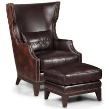 Chesterfield Wing Armchair Captivating Leather Wingback Chair And Ottoman Chesterfield