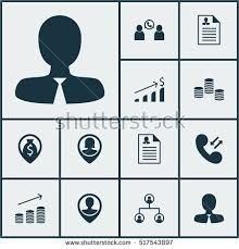 profile of hr manager set hr icons on female application stock vector 517543897