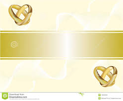 a wedding invitation card with gold rings stock photo image