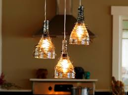 upcycle wine bottle into pendant light fixtures how tos diy