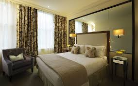 contemporary master bedroom design animal pattern blanket orange