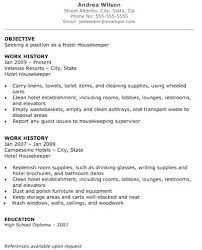 american resume sles for hotel house keeping resume for housekeeping job gallery of job resume housekeeping