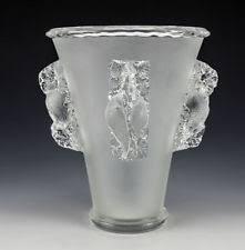 Crystal Glass Vase Lalique Bird Vase Ebay
