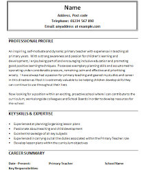 Resume Samples For Teaching Job by Writing A Critical Essay For National 4 Cv Resume Sample For