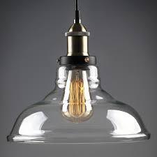 industrial looking pendant light fixtures glass edison vintage