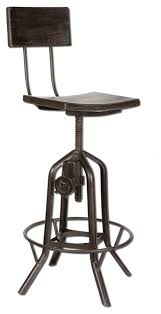 Industrial Adjustable Bar Stools Industrial Crank Bar Stool Eclectic Bar Stools And Counter