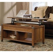 coffee table sauder carson forge lift top coffee table within