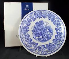 spode blue room collection rural plate 10 1 2 mint ebay